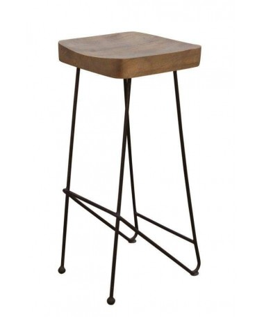 Bar Chair with Industrial Iron