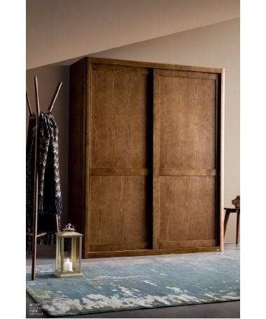 Wood wardrobe with sliding...