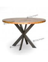 round-teak-dining-table