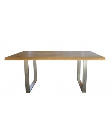 Alien Wood and Steel Table