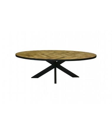 Barney parquet oval table