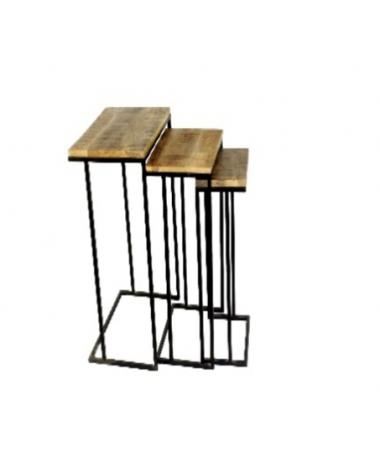 Set of three stools of wood...