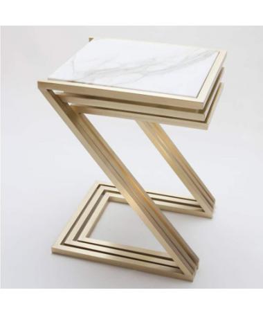Set of three stool white...